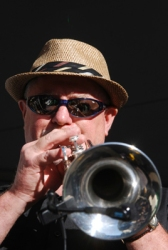 Dave Rosen on trumpet