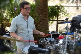 Max Yoshimoto on percussion