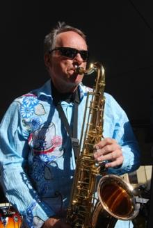 Mike Rissi on saxaphone