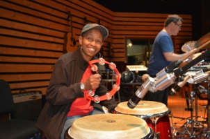 Rita Hargrave on percussion