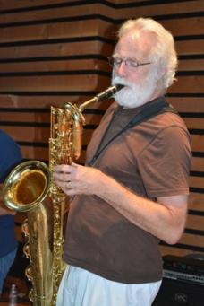 Bernard Knapp on baritone saxaphone